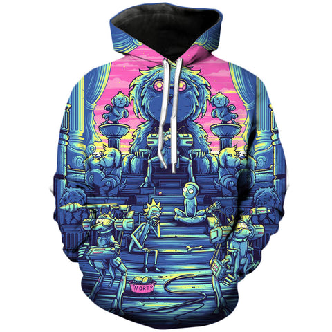 Amazing Worlds | Rick and Morty 3D Printed Unisex Hoodies - RespawnWear