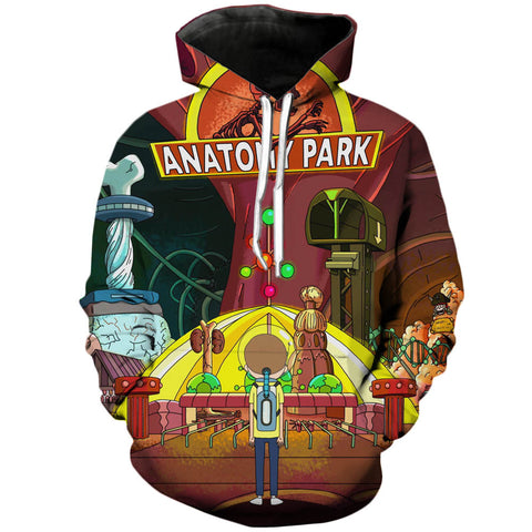 Anatomy Jurassic Park | Rick and Morty 3D Printed Unisex Hoodies - RespawnWear