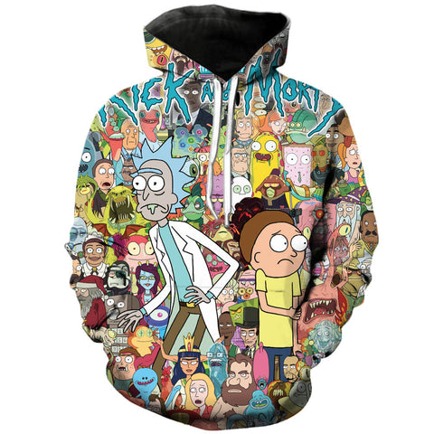All Multiverse characters | Rick and Morty 3D Printed Unisex Hoodies - RespawnWear