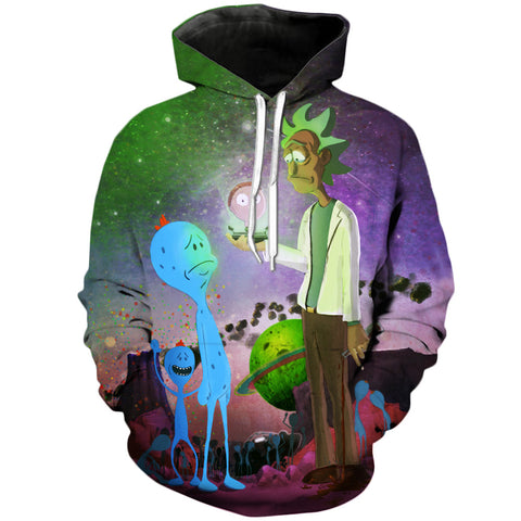 Mr. Meseeks and Rick and Morty 3D Printed Unisex Hoodies - RespawnWear