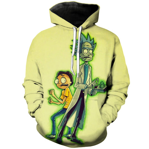 Glowing Rick n Morty | Rick and Morty 3D Printed Unisex Hoodies - RespawnWear