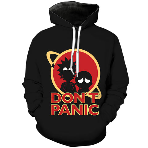 Dont PANIC | Rick and Morty 3D Printed Unisex Hoodies - RespawnWear