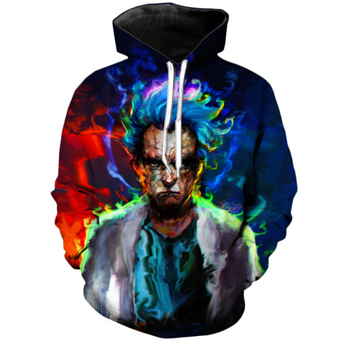 HyperReal Rick SSJ? | Rick and Morty 3D Printed Unisex Hoodies - RespawnWear