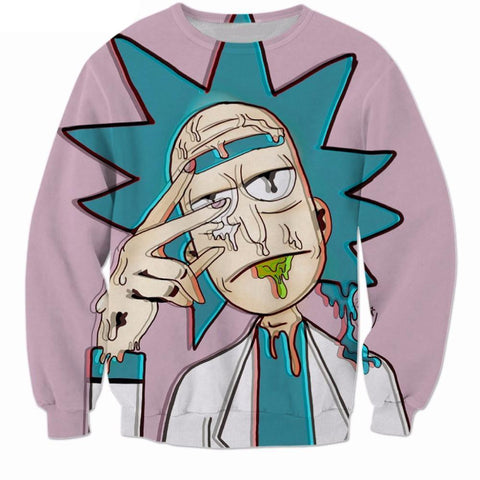 Rick and Morty Trippy Intoxicated Sweatshirt - RespawnWear