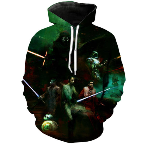 Sabers at the ready | Star Wars 3D Printed Hoodie - RespawnWear