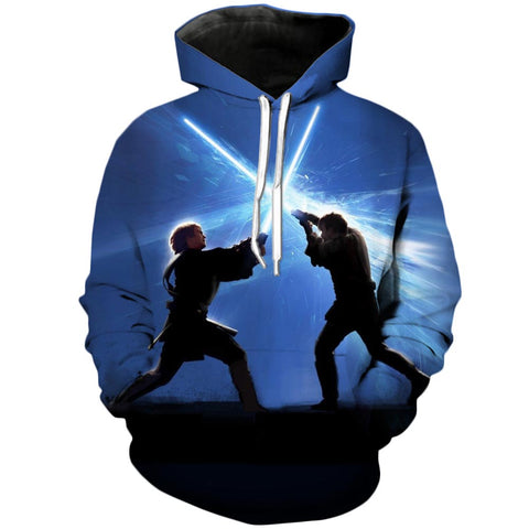 Epic Clash | Star Wars 3D Printed Hoodie - RespawnWear