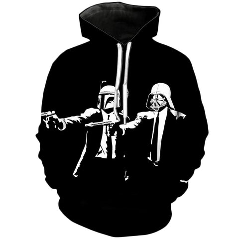 Pulp Fiction Dark side | Star Wars 3D Printed Hoodie - RespawnWear