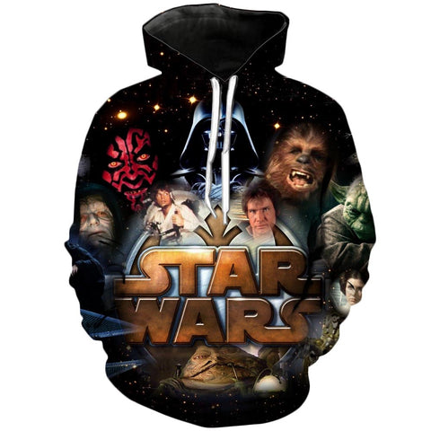 Dark vs Light | Star Wars 3D Printed Hoodie - RespawnWear