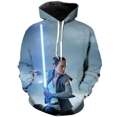 Rey The Last Jedi | Star Wars 3D Printed Hoodie - RespawnWear