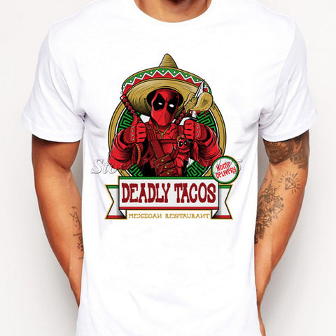 Funny Mexican Deadpool With Tacos T-Shirt - RespawnWear