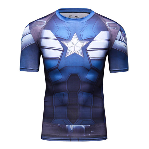 Captain America Compression Tshirt - RespawnWear