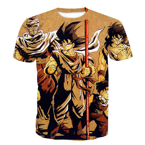 Team Earth Dragon Ball Z Unisex Tshirt [3D Printed] - RespawnWear