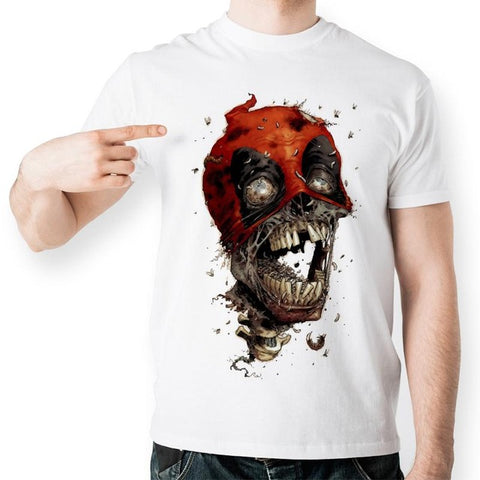 Deadpool beat up skull T-Shirt - RespawnWear