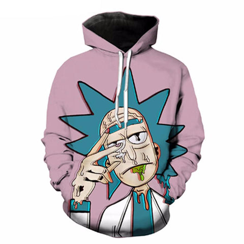 3D Rick And Morty Acid Trip Hoodie - RespawnWear