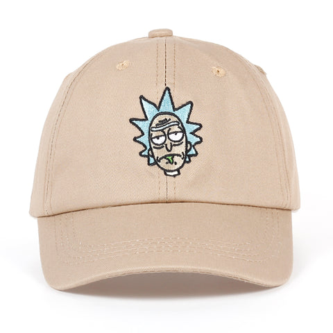 Rick and Morty Khaki/Black Baseball Cap - RespawnWear