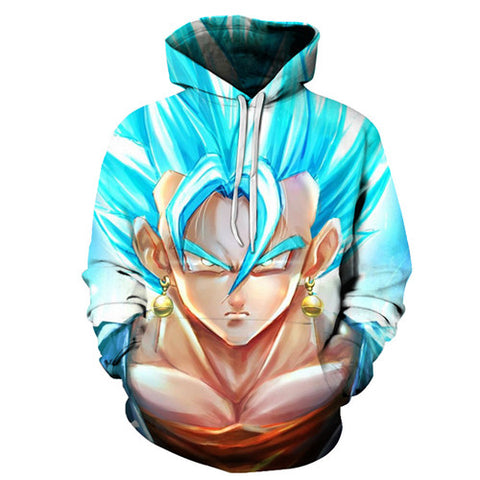 Blue Vegito Dragon Ball Pocket Hoodie - RespawnWear