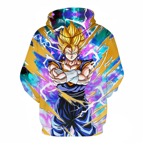 Vegito Super Saiyan Dragon Ball Pocket Hoodie - RespawnWear