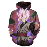 Black Goku Super Saiyan Rose Dragon Ball Pocket Hoodie - RespawnWear