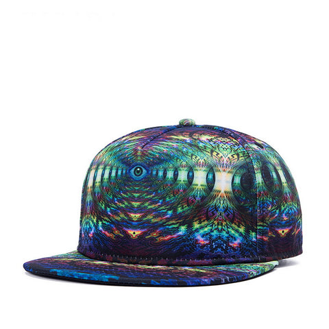 Trippy Psychedelic Eye Unisex Snapback Hats: 3D Printed Hip-Hop Baseball Cap - RespawnWear