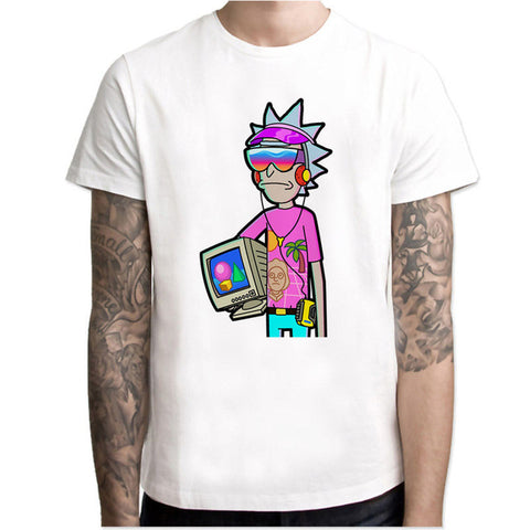 Retro Vapourware Rick | Rick and Morty T-shirt - RespawnWear