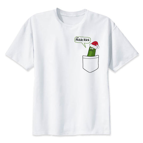 Santa Pickle Rick on a tit | Rick and Morty T-shirt - RespawnWear
