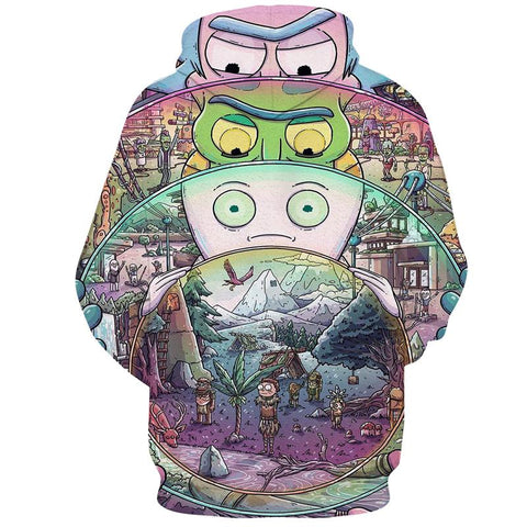 Amazing Multiverse Matrix | Rick and Morty 3D Hoodie - RespawnWear
