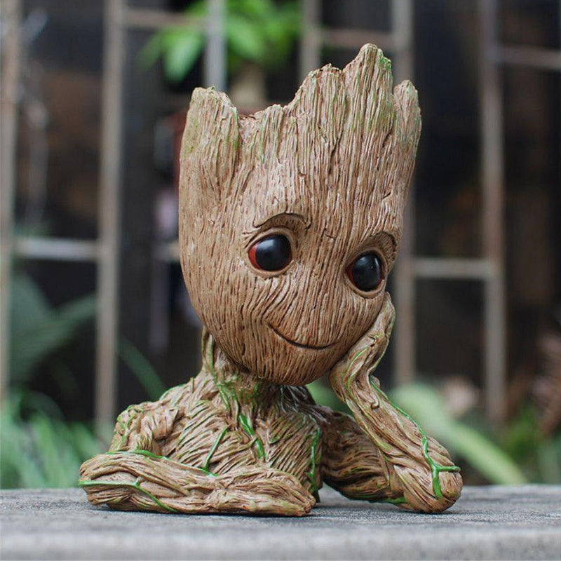 Baby Groot Planter Flower Pot Pen Stand 3d Model Guardians Of The Galaxy