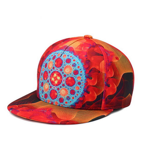 Trippy Psychedelic Tribal Unisex Snapback  3D Printed Cap - RespawnWear