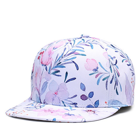 Trippy Psychedelic Flowers Unisex Snapback  3D Printed Cap - RespawnWear