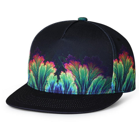 Trippy Psychedelic Rainbow Unisex Snapback  3D Printed Cap - RespawnWear