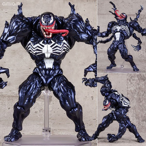 Revoltech Series NO.003 Venom from Spiderman PVC Action Figure Collectible Model Toy - RespawnWear