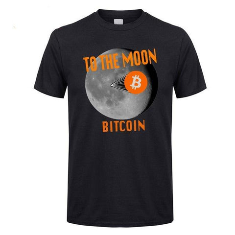 To the Moon  | Bitcoin T-Shirts - RespawnWear