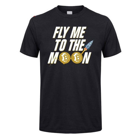 Fly me to the moon  | Bitcoin T-Shirts - RespawnWear