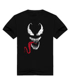 Smirking Venom Spiderman Black T-Shirt - RespawnWear