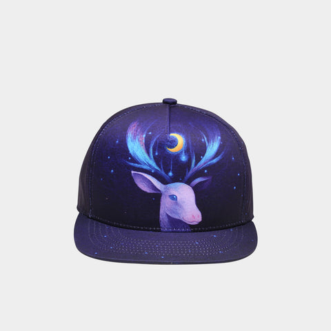 Trippy Psychedelic Space Deer Unisex Snapback Hats: 3D Printed Hip-Hop Baseball Cap - RespawnWear