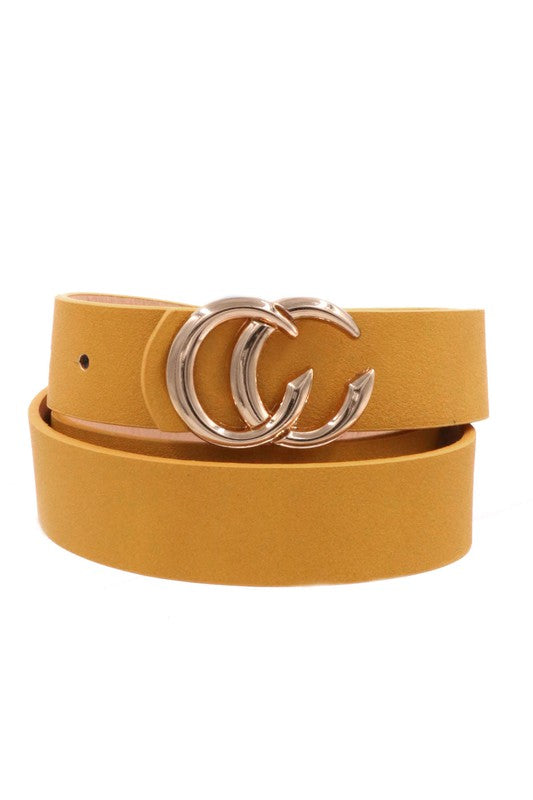Mustard CC buckle belt
