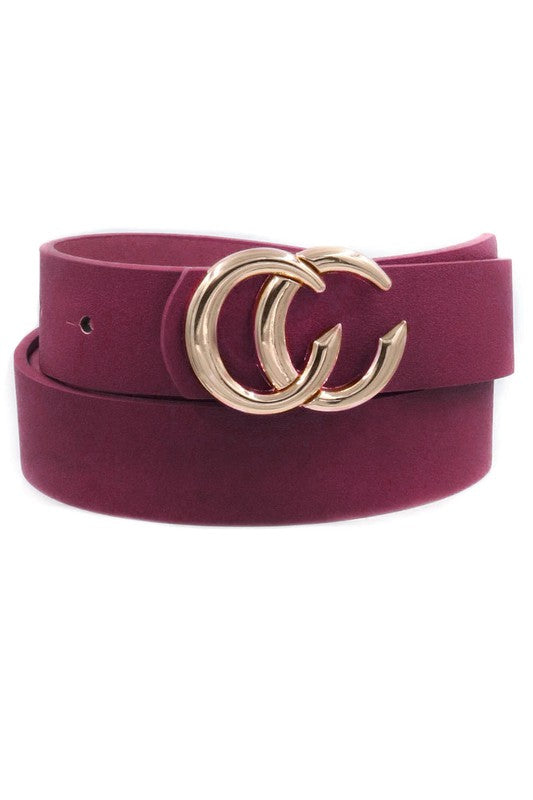 Cameron belt burgundy