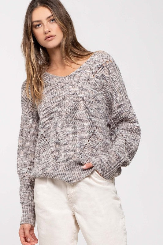 Gray marble sweater
