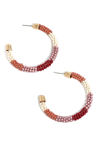Hannah earrings burgundy