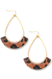 Casey earrings brown leopard