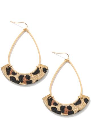 Casey earrings beige leopard