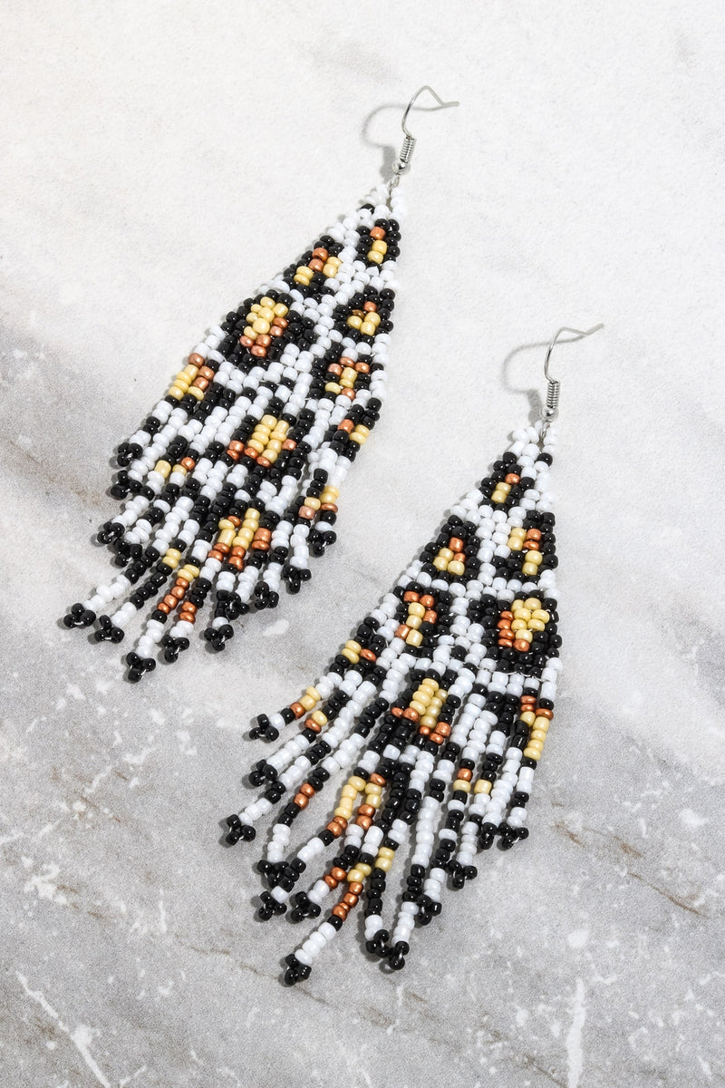 Leopard boho earrings