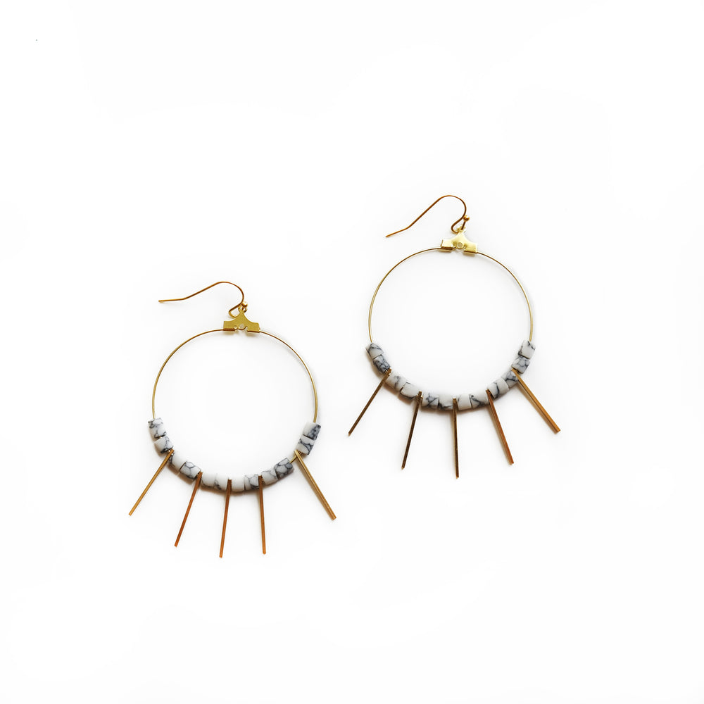 Shani earrings-howlite
