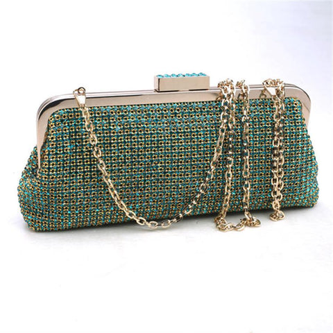 Britten green evening clutch