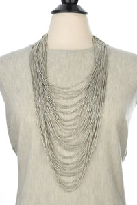 Long light gray necklace