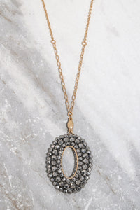 Everett necklace hematite