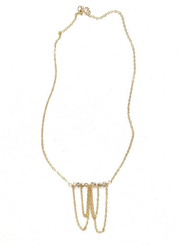 Gold draping chain choker