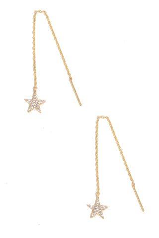 Ur a star threader earrings gold