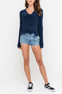Navy cropped sweater