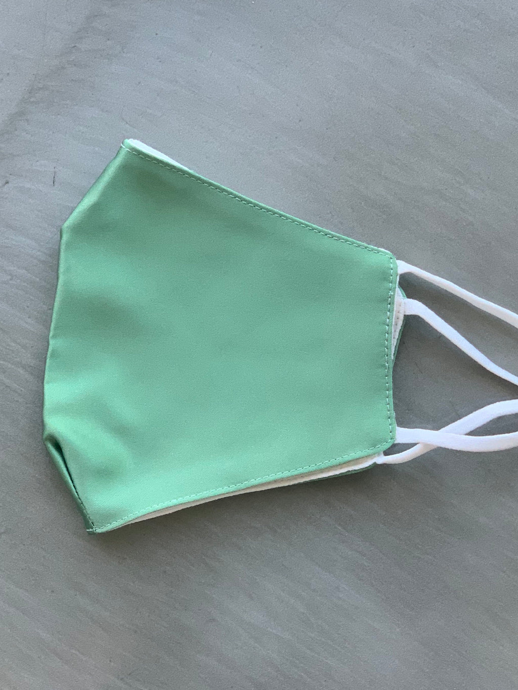 Satin face covering green